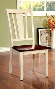 DOVER Vintage White/Cherry Side Chair (2/CTN)