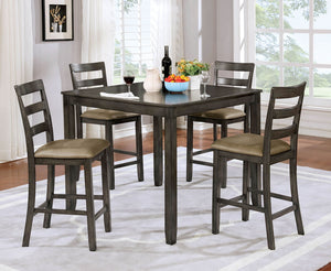 Gloria Gray 5 Pc. Counter Ht. Table Set, Gray