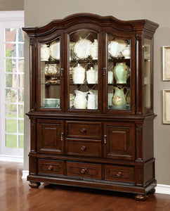 Alpena Brown Cherry Hutch & Buffet
