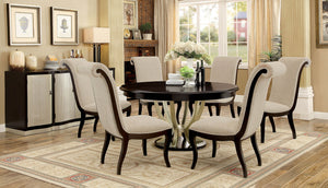 Ornette Espresso/Champagne 7 Pc. Dining Table Set