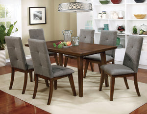 Abelone Gray, Walnut 7 Pc. Dining Table Set