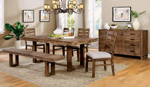 Lidgerwood Natural Tone 6 Pc. Dining Table Set w/ Bench