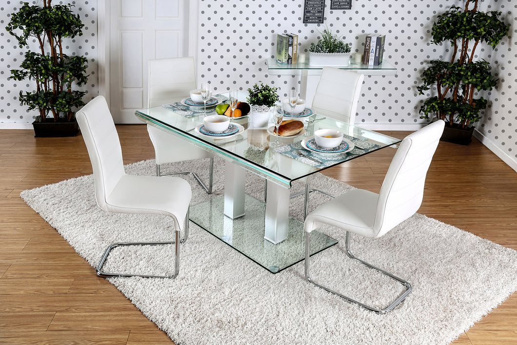 Richfield I Silver/Chrome 7 Pc. Dining Table Set