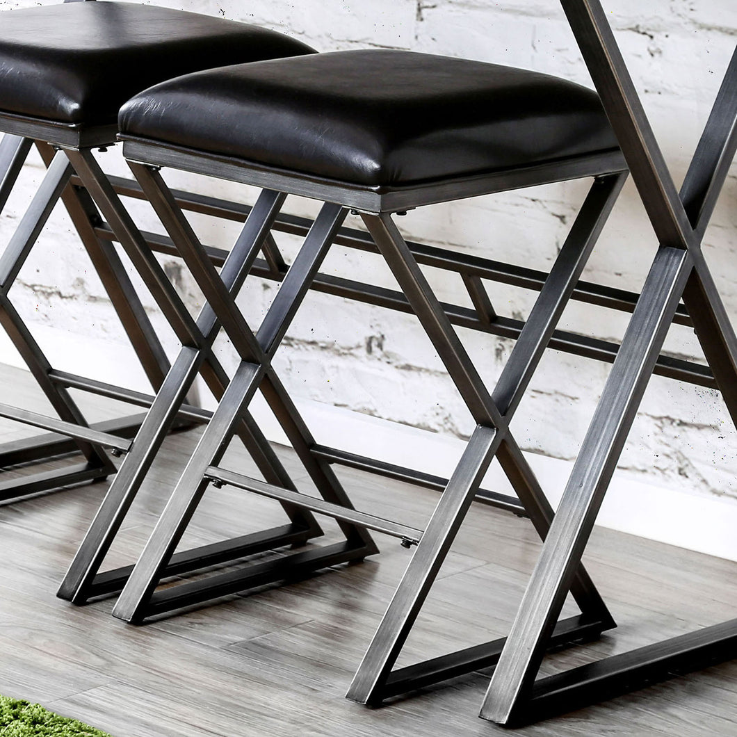Weathered Gray Bar Stool (2/CTN)