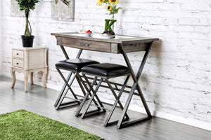 Glasby Weathered Gray Wine Bar Table