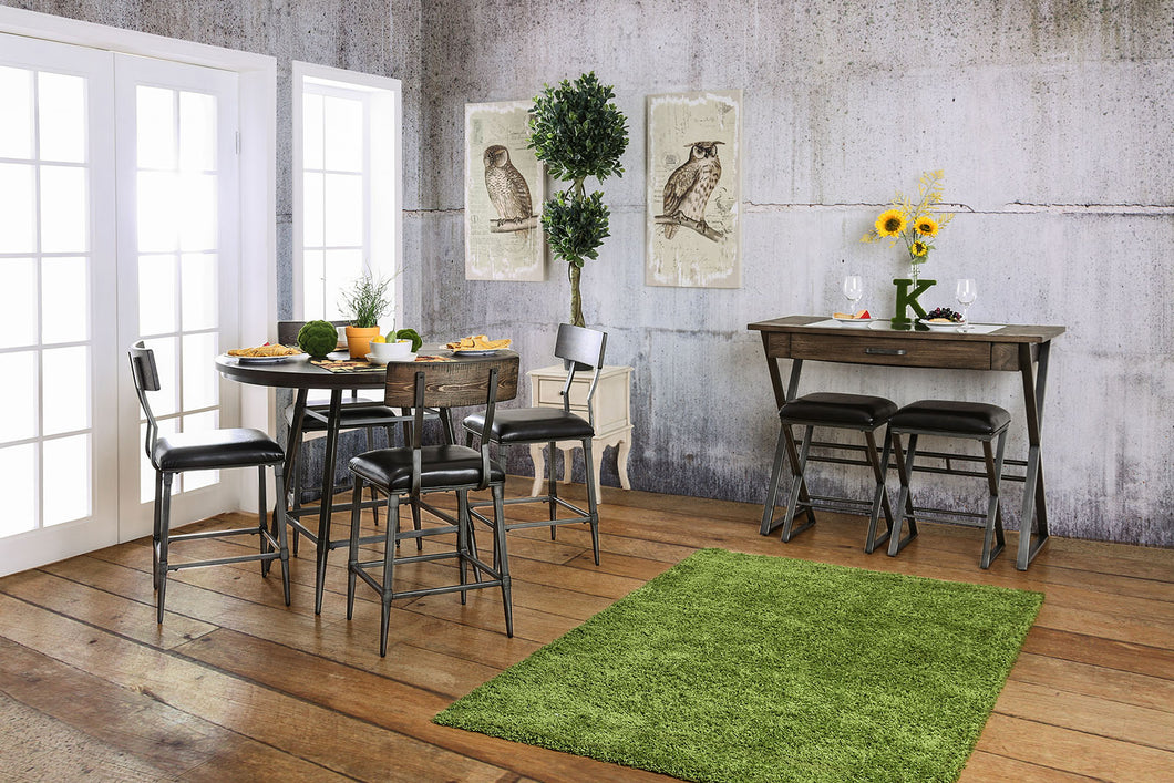 Mullane Weathered Gray 5 Pc. Round Dining Table Set