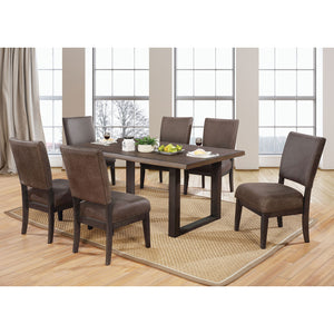 Tolstoy Expresso 7 Pc. Dining Table Set