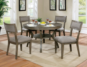 Leeds Gray Round Dining Table
