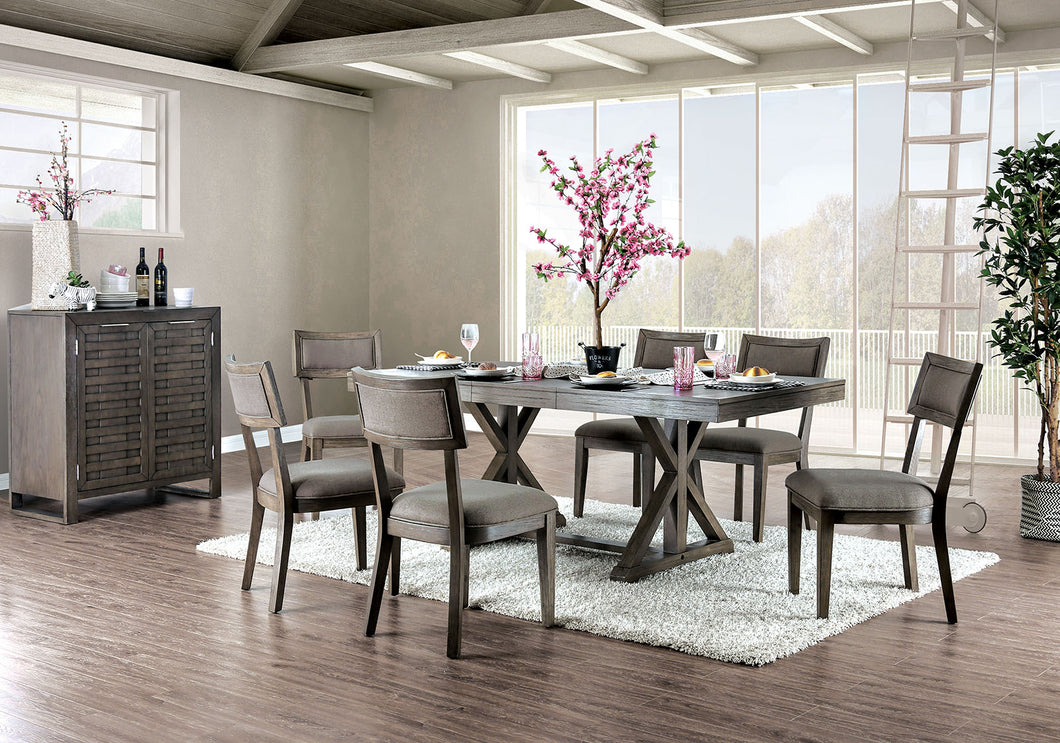 Leeds Gray 7 Pc. Dining Table Set