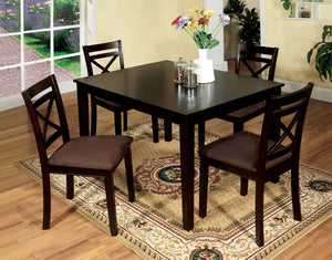 Weston I Espresso 5 Pc. Dining Table Set