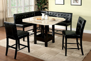 Bahamas Black 6 Pc. Counther Ht. Table Set w/ Corner Bench