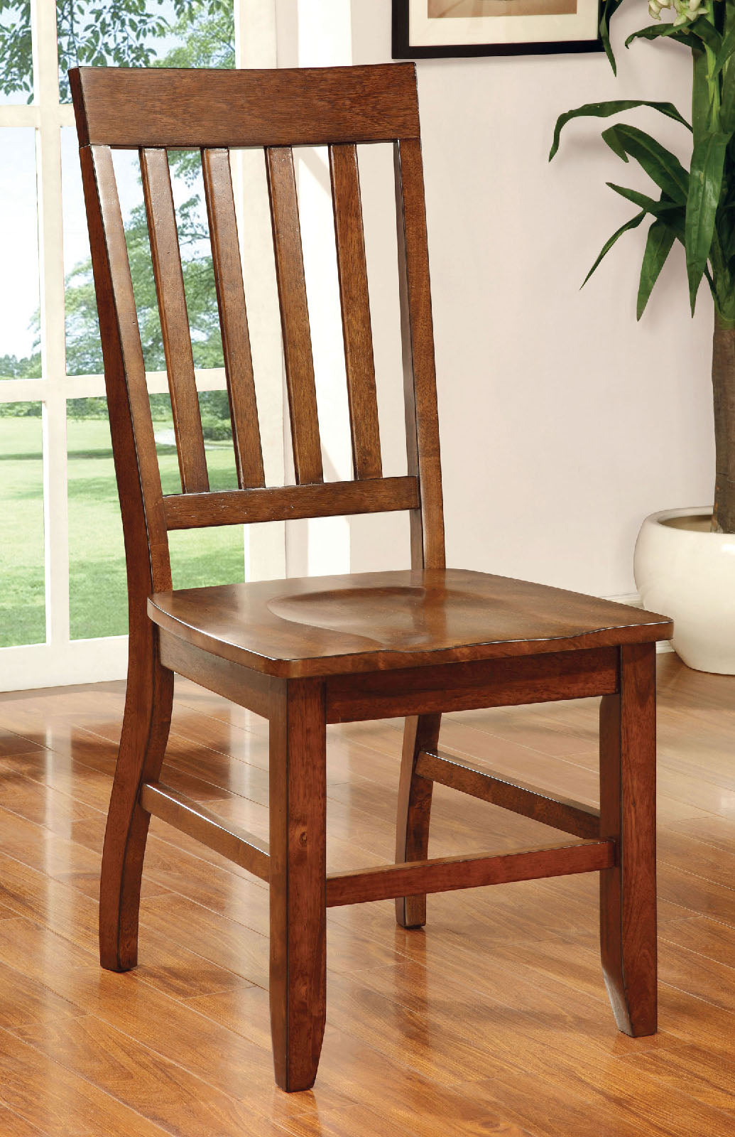 FOSTER I Dark Oak Side Chair (2/CTN)