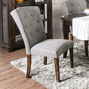 Schoten Gray/Antique Dark Oak Side Chair (2/CTN)