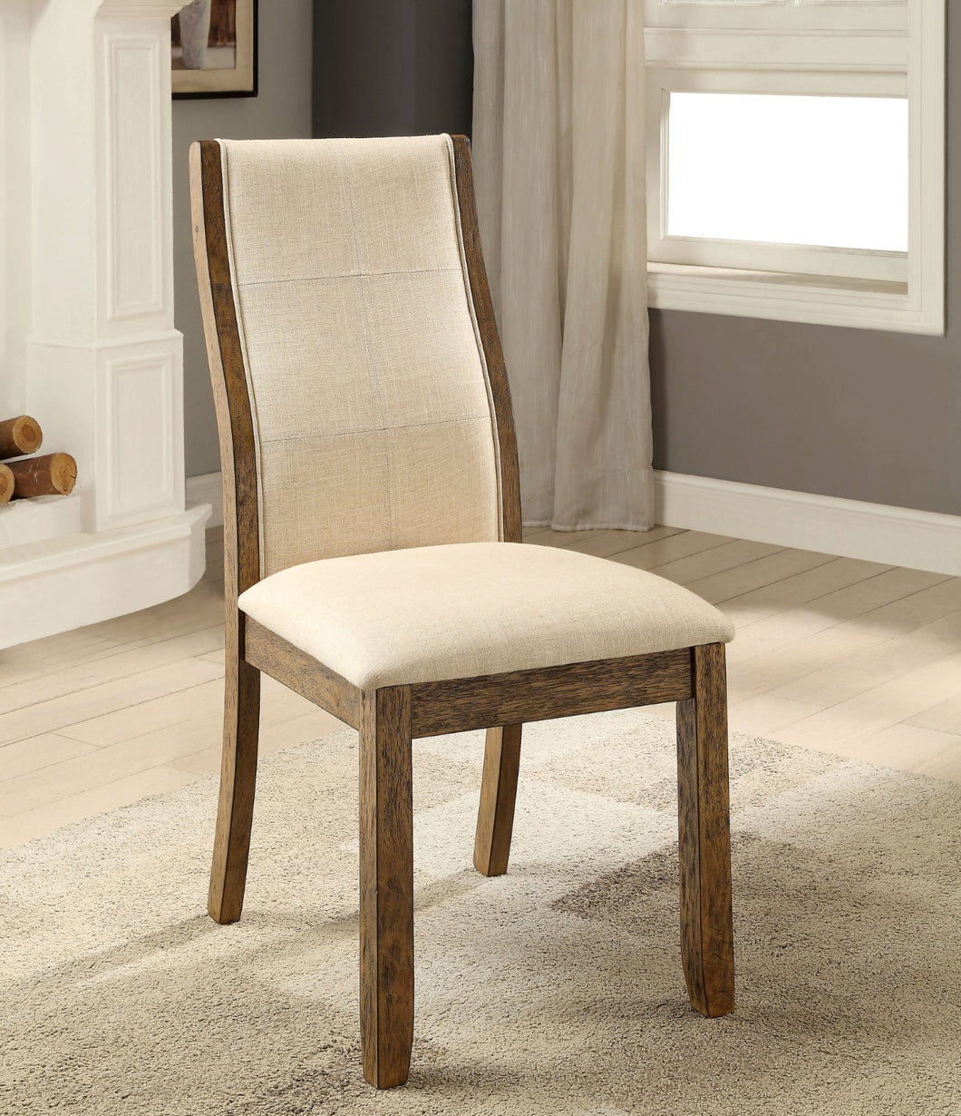 ONWAY Oak/Beige Side Chair (2/CTN)