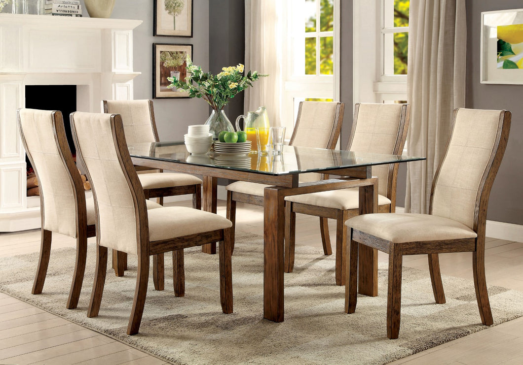 ONWAY Oak, Beige 7 Pc. Dining Table Set