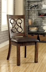 PAULINA Rustic Walnut/Espresso Side Chair (2/CTN)