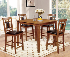FREEMAN II Light Oak/Espresso Counter Ht. Table Set