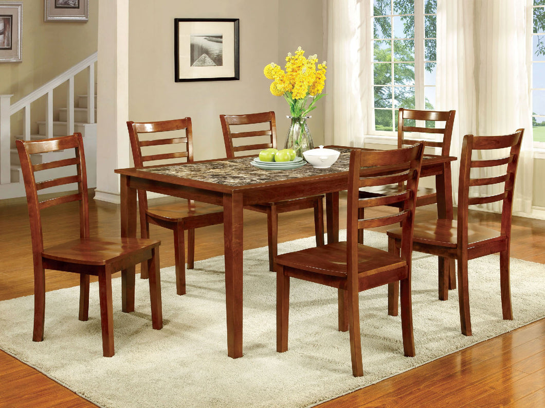 FORDVILLE I Antique Oak 7 Pc. Dining Table Set