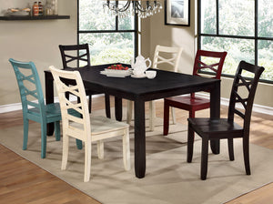 GISELLE Espresso 7 Pc. Dining Table Set