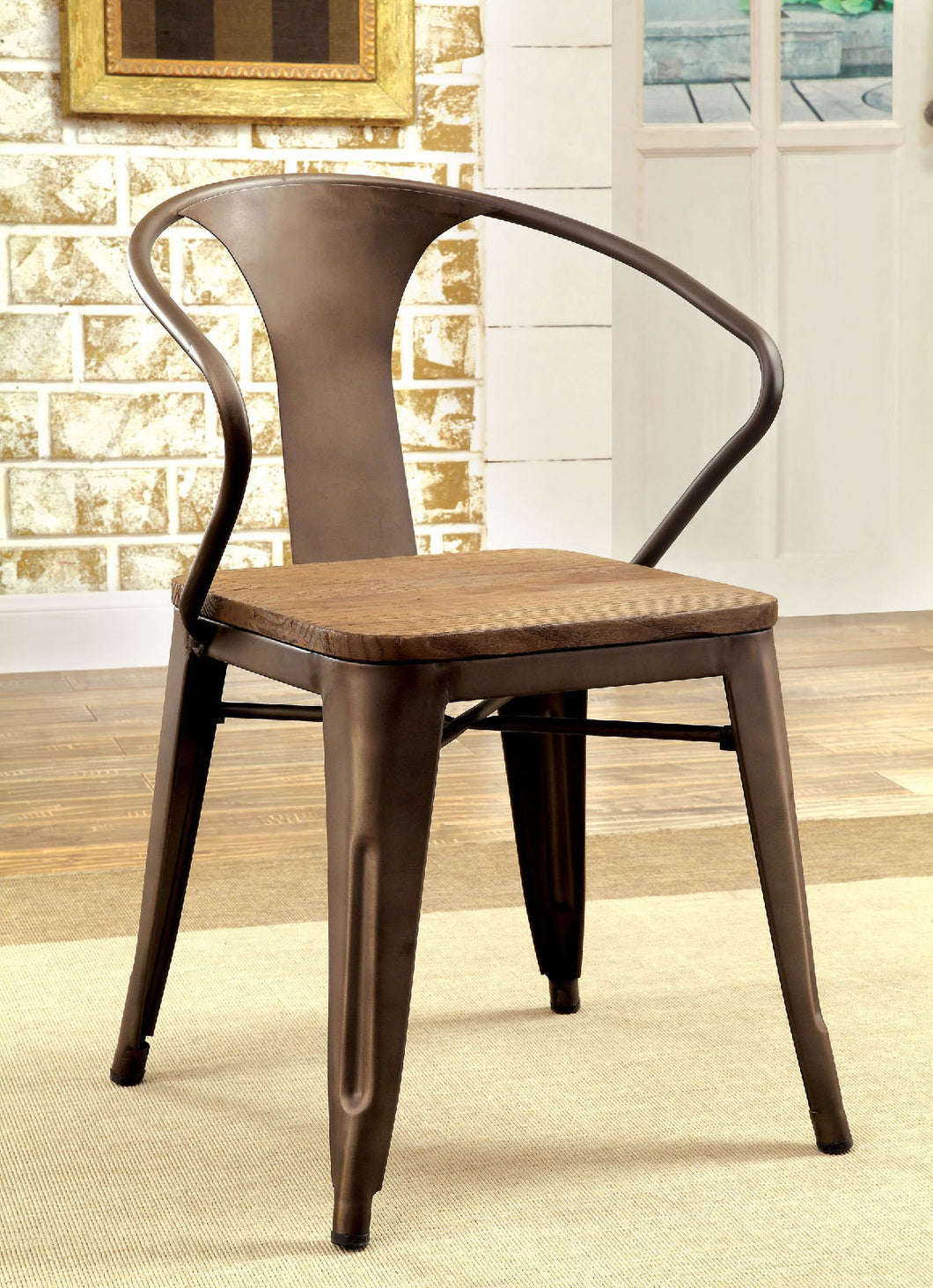 COOPER I Dark Bronze/Natural Side Chair (2/CTN)