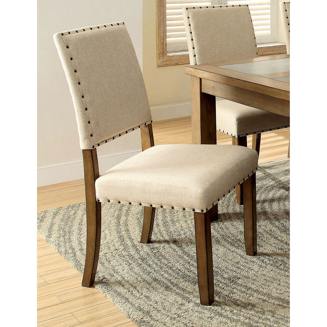 MELSTON I Natural Tone/Beige Side Chair w/ Ivory (2/CTN)
