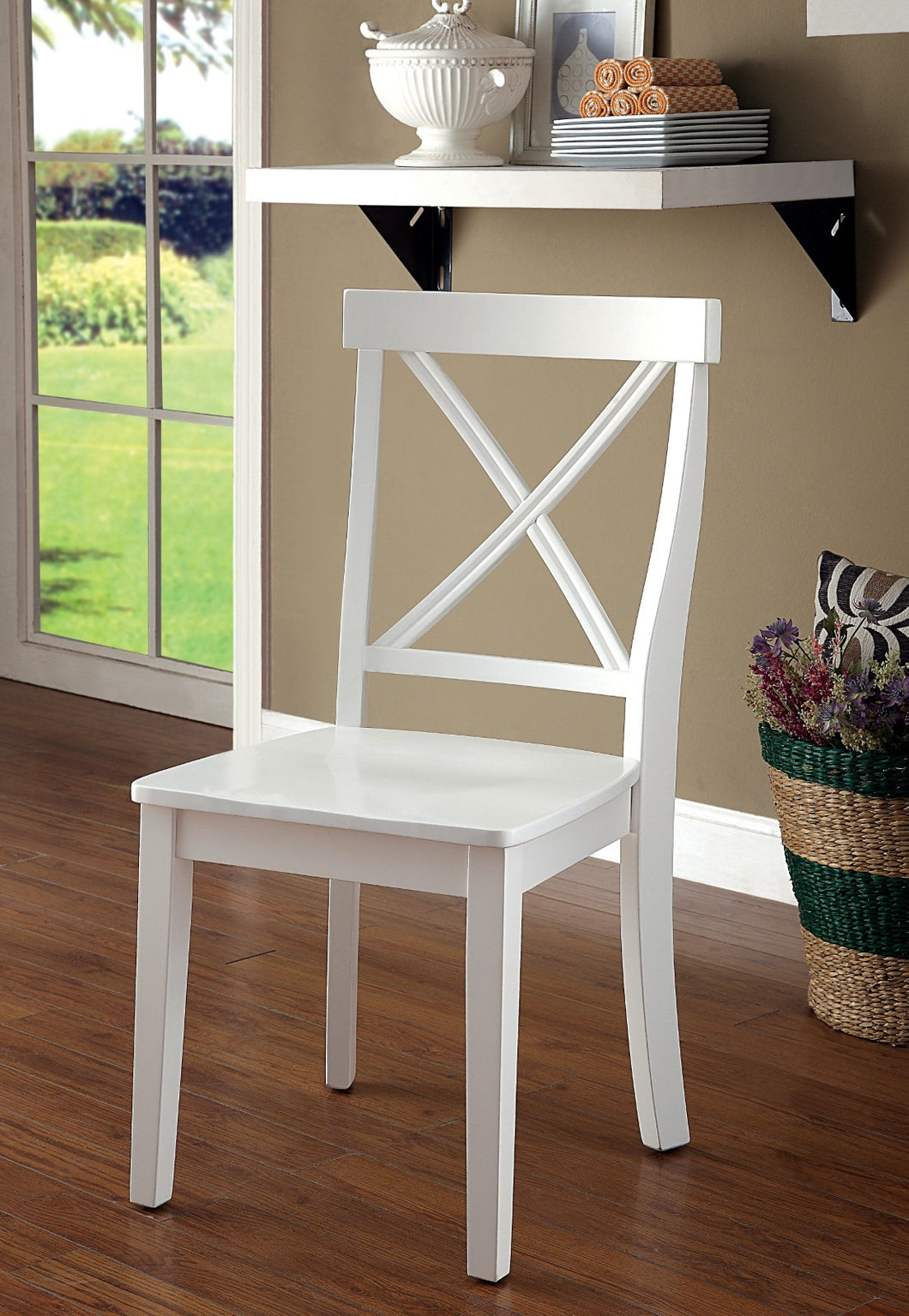 PENELOPE White Side Chair (2/CTN)