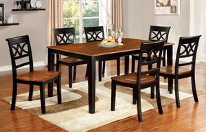 TORRINGTON Black/Cherry 7 Pc. Dining Table Set