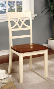 TORRINGTON Vintage White/Cherry Side Chair (2/CTN)
