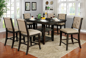 Patience Dark Walnut 7 Pc. Counter Ht. Dining Table Set