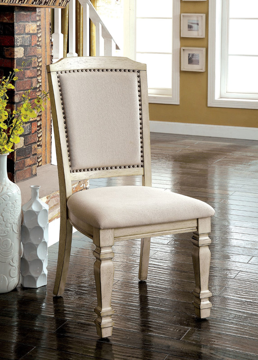 HOLCROFT Antique White/Ivory Side Chair (2/CTN)