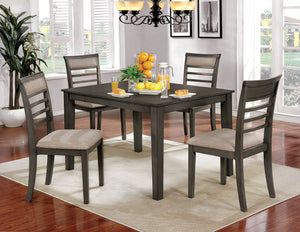 Fafnir Weathered Gray/Beige 6 Pc. Dining Table Set w/ Bench