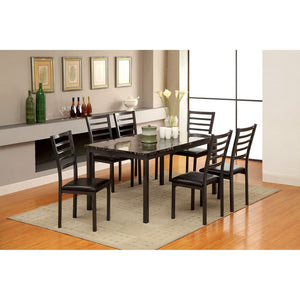 "COLMAN Black 5 Pc. Dining Set (60""T+4SC)"
