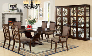 Woodmont Walnut 9 Pc. Dining Table Set (2AC+6SC)