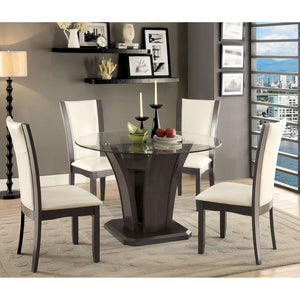 MANHATTAN I Gray 7 Pc. Round Dining Table Set