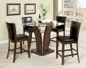 Manhattan III Brown Cherry 5 Pc. Round Counter Ht. Table Set