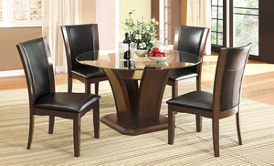 Brown Cherry 5 Pc. Round Dining Table Set