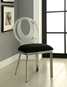 ORLA Silver/Black Side Chair (2/CTN)