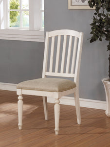Summer Antique White/ Gray Side Chair (2/CTN)