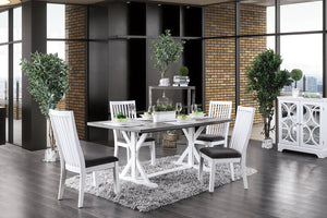 Kathleen White/Gray Dining Table