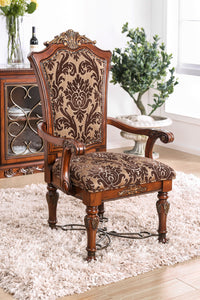 Lucie Brown Cherry Arm Chair (2/CTN)