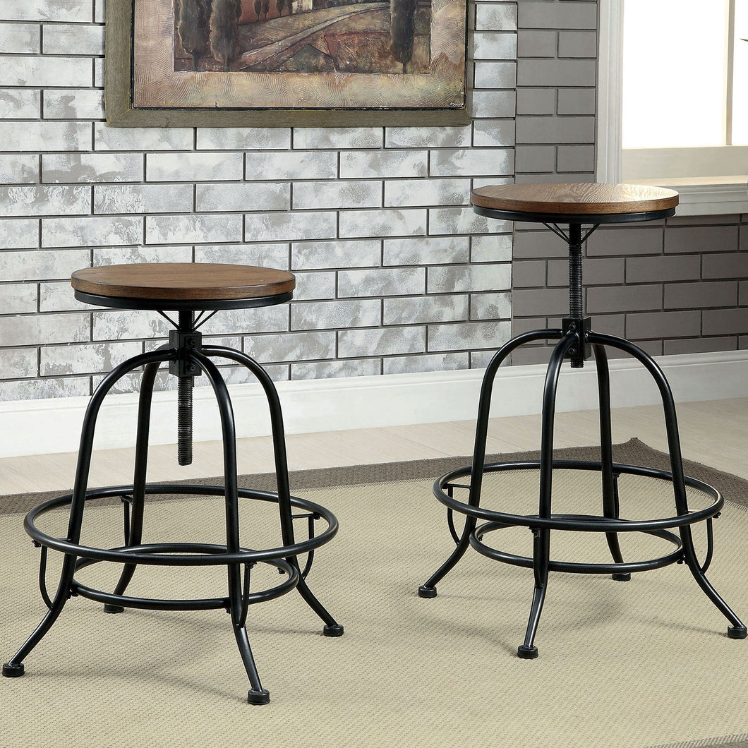 SILVIA I Medium Oak Counter Ht. Stool (2/CTN)