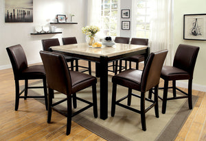GLADSTONE II Black/Black 9 Pc. Counter Ht. Dining Table Set