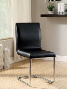 LODIA I Black/Silver Side Chair