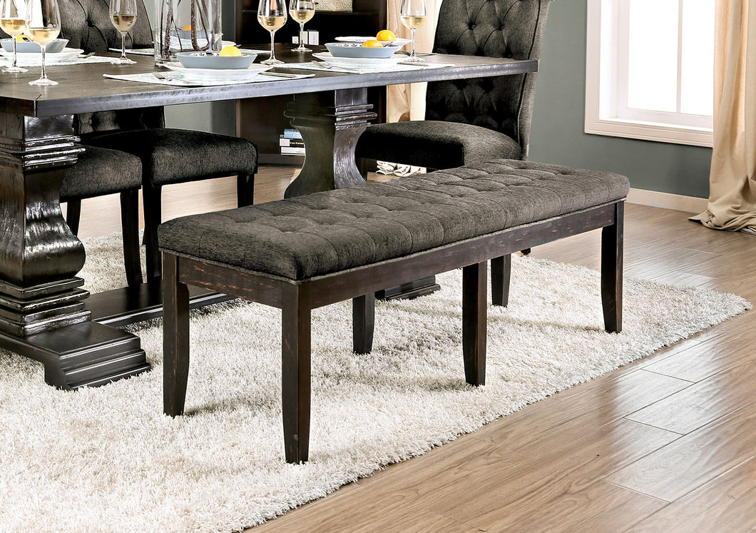 Nerissa Gray/Antique Black Bench