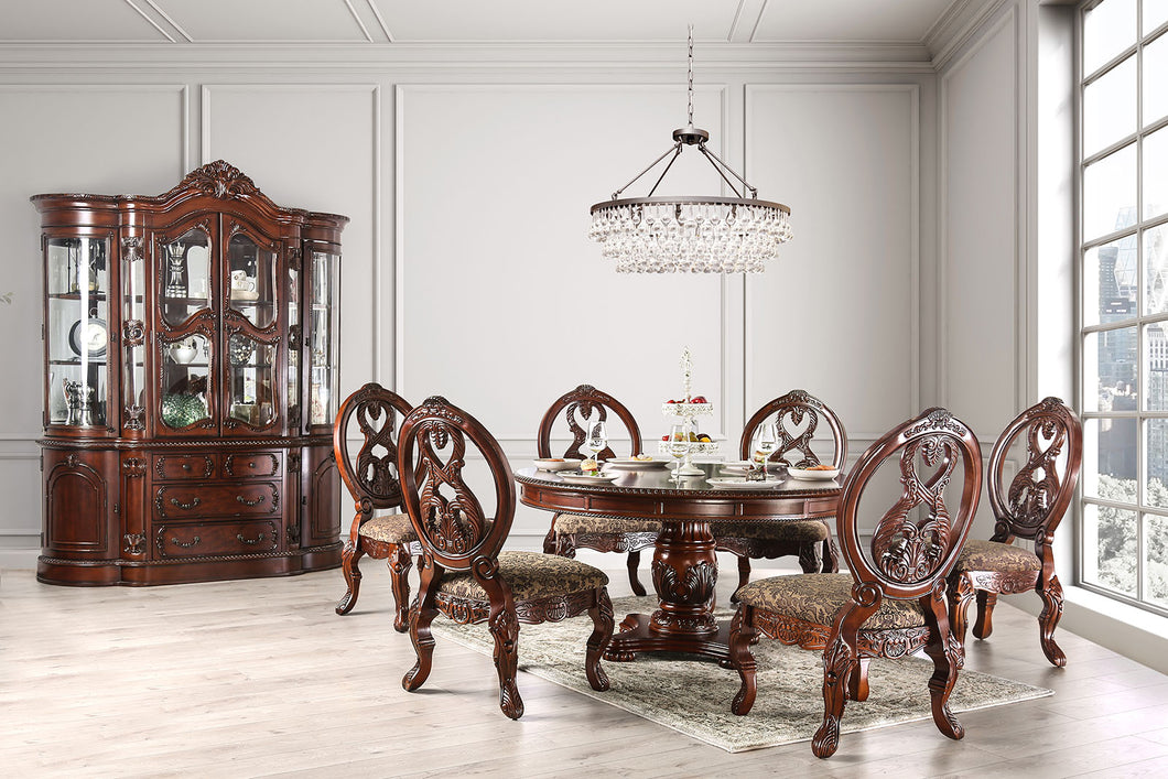 TUSCANY I Antique Cherry 5 Pc. Round Dining Table Set