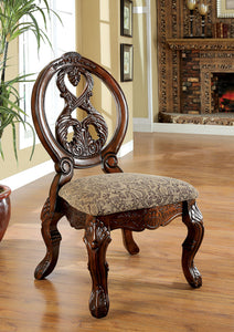 TUSCANY I Antique Cherry/Brown Pattern Side Chair, Cherry (2/CTN)