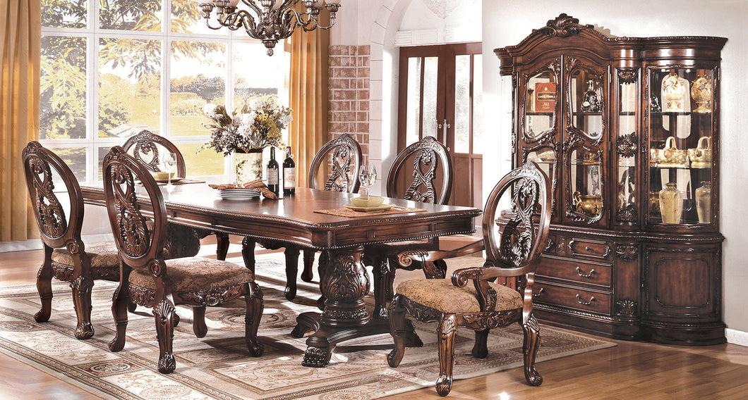 Tuscany I Antique Cherry 9 Pc. Dining Table Set (2AC+6SC)