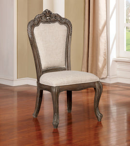 Charmaine Antique Brush Gray Side Chair (2/CTN)