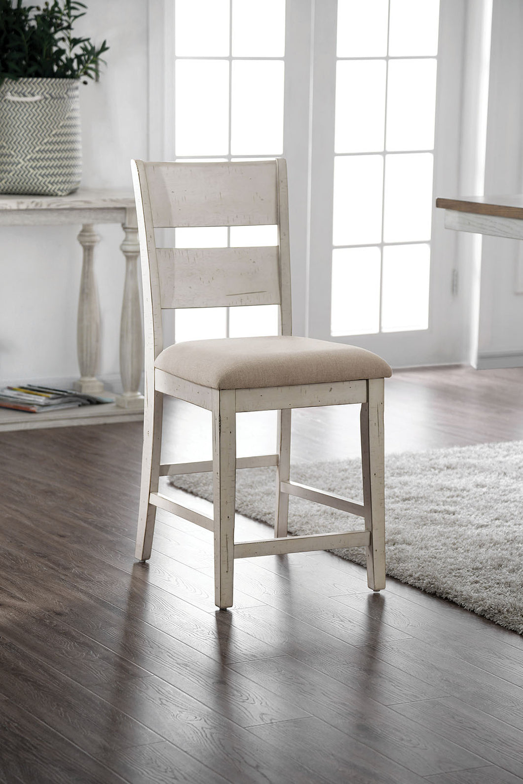 Brigidii White Counter Ht. Side Chair (2/CTN)