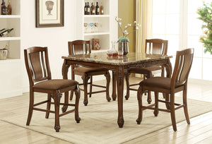 JOHANNESBURG Brown Cherry, Brown 5 Pc. Counter Ht. Table Set